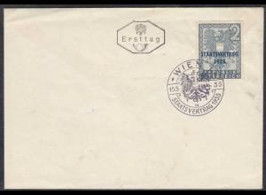 Österreich - Austria 1955 Mi. 1017 Staatsvertrag FDC (27875