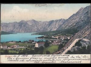 Österreich - Austria AK 1906 CATTARO Kotor Montenegro nach Tasos Sotiris (27879