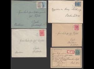 Österreich - Austria 5 Stück Briefe/Karten ca 20er Jahre (65317