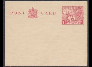 Great Britain - British Empire Exhibition Wembley 1924 Postal Stationery (65324
