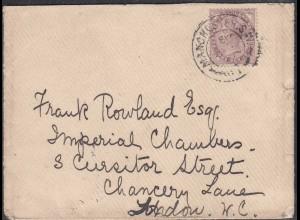 Grossbritannien - Great Britain UK Umschlag 1900 Manchester-London 1 P. (65334