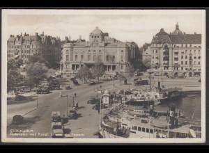 AK Schweden SVERIGE Stockholm 1935 Nybroplan Kungl.Dramatiska Teatern (65370