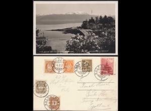AK Norwegen - Norway 1938 Balestrand Aussicht aus Kvikne Hotel (65375