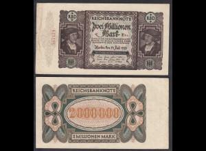 Ro 89b 2 Millionen Mark 1923 Pick 89 VF- (3-) FZ: E - BZ: Ra (27926