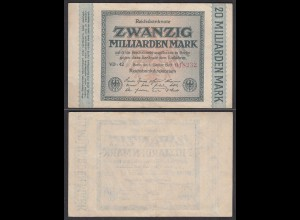 20-Milliarden Mark 1923 Ro 115b Pick 118 Serie VD-42 aXF (2-) (27948