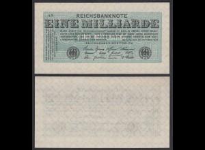 1-Milliarden Mark 1923 Ro 119 Pick 122 FZ: AN aUNC (1-) (27959