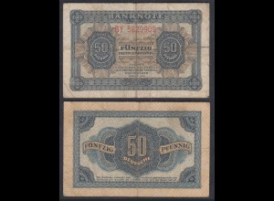DDR 50 Pfennig 1948/51 Ro 339e VG (5) Serie BY 7-stellig (28070