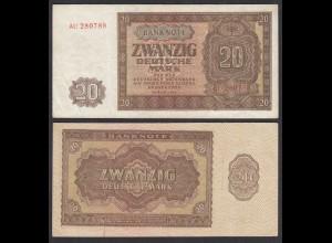 DDR 20 Mark 1948 Ro 344b VF+ (3+) Serie AU (28100