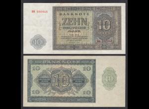 DDR 10 Mark 1948 Ro 343b VF (3) Serie BK (28124