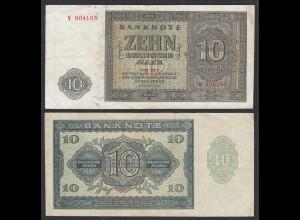 DDR 10 Mark 1948 Ro 343b VF (3) Serie Y (28127