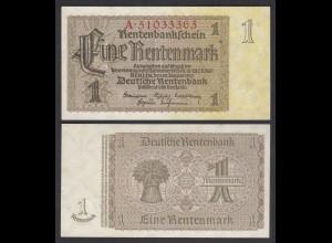 Rentenbankschein Deutsches Reich 1 Rentenmark 1937 Ros 166b UNC (1) (28160