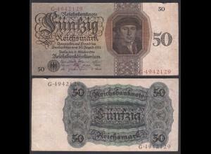 Reichsbanknote - 50 RM 1924 Serie X/G Ro 170a F (4) (28166