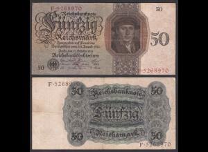 Reichsbanknote - 50 RM 1924 Serie X/F Ro 170a VF (3) RAR (28167