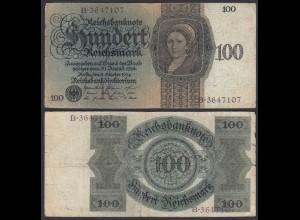 Reichsbanknote - 100 RM 1924 Serie K/B Ro 171a F (4) (28169
