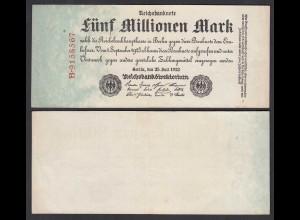 Reichsbanknote - 5 Millionen Mark 1923 Ro 95 aUNC (1-) Serie B (28176