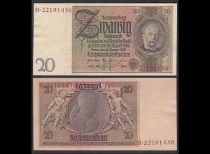 20 Reichsmark 1929 Ro 174a Pick 181 aUNC (1-) H/H - Serien Nummer braun/rot RAR