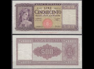 Italien - Italy 500 Lire 1948 Pick 80a VF+ (11618