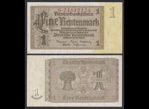 Rentenbankschein Deutsches Reich 1 Rentenmark 1937 Ros 166b aUNC (1-) (28247