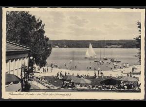AK Strandbad Forster der Lido des Ammersee´s Schondorf mit Bahnpost (220892