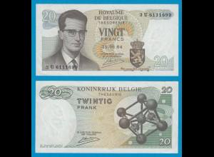 Belgien - Belgium 20 Francs 15.6.1964 3U Pick 138 XF (2) (19112