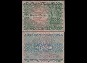 Österreich - Austria 100 Kronen 1922 Pick 77 F (4) (19818