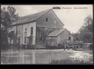 AK Frankreich Granatenmühle in Dontrien 1915 Feldpost (22148