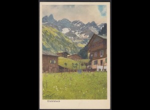 AK 1923 Einödsbach bei Oberstdorf mit Infla Marke (22235