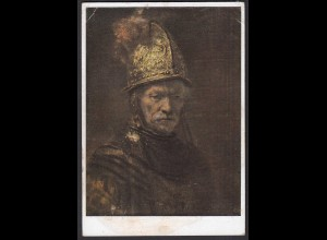 AK Rembrand Der Mann mit dem Goldhelm Museum Berlin (21636