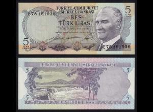 Türkei - Turkey 5 Lira Banknote 1930 (1968) Pick 179 UNC (1) (17565