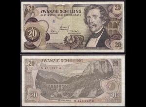 Österreich - Austria 20 Schilling Banknote 1967 Pick 142a F/VF (cb176