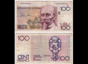 Belgien - Belgium 100 Francs Banknote ND (1982-94) Pick 142a VG (5) (d710