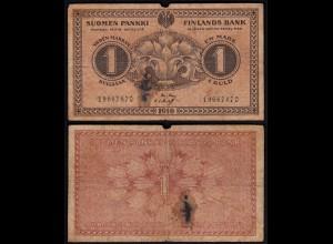 FINNLAND - FINLAND 1 MARKKA BANKNOTE 1916 PICK 19 G (6) (23588