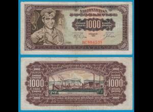 Jugoslawien - Yugoslavia 1000 Dinara 1963 Pick 75 F (4) (18293