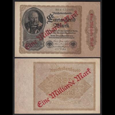 Reichsbanknote - 1 Milliarde Mark 1923 Ro 110b FZ: E BZ: 94 XF (2) (24222