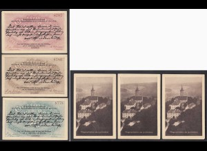 Thüringen - Kahla 3 Stück 25,50,75 Pfennig Notgeld Leuchtenburg (28319