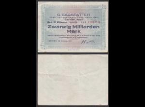 Senden (Bayern) 20 Milliarden Mark 1923 Notgeld Säge- und Hobelwerk (28334