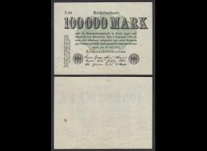 100.000 100000 Mark 1923 Ro 90b Pick 91 - FZ E - BZ 65 - F/VF (3/4) (28356