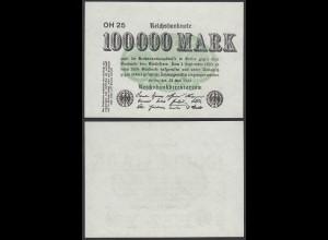 100.000 100000 Mark 1923 Ro 90b Pick 91 - FZ OH - BZ 25 - aUNC (1-) (28357