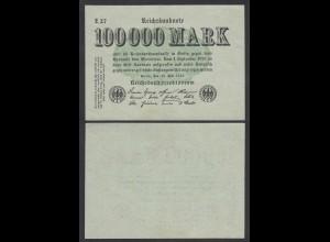 100.000 100000 Mark 1923 Ro 90a Pick 100 - FZ: E BZ: 27 aUNC (1-) (28360