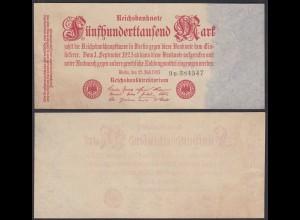 500-tausend Mark 1923 Ro 91b FZ: B BZ: 9 XF (2) (28362
