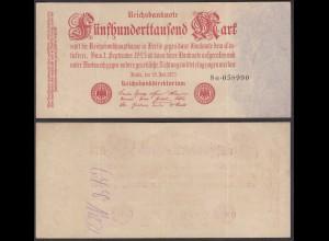 500-tausend Mark 1923 Ro 91b Pick 92 FZ: G BZ: 8 VF (3) (28365