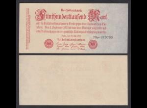 500-tausend Mark 1923 Ro 91b Pick 92 FZ: P BZ: 39 aUNC (1-) (28366