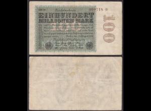100 Millionen Mark 1923 Ro 106l Star Note FZ: BM BZ: 29 (28369