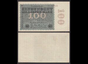 100 Millionen Mark 1923 Ro 106e Star Note FZ: V BZ: 9 (28370