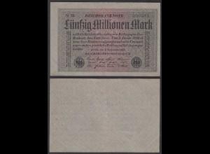 50 Millionen Mark 1923 Ro 108b FZ: N BZ: 56 niedrige Nummer (28371