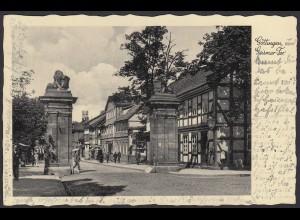 Ak 1937 Göttingen Geismar Tor mit Bahnpost (20896
