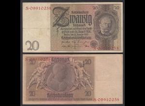 Reichsbanknote 20 Reichsmark 1929 Ro 174a F/S !! (28199