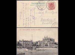 Spanien - Spain AK 1912 Palma de Mallorca La Lonja y La Catedral nach Dresden