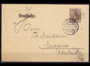 Münster Westf.Werbekarte Strewe & Hunger n.Bentfort 1912 (6451