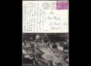 Italien - Italy 1950 Karte Vatikan mit Piazza di San Pietro (28426